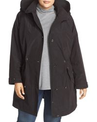 Gallery - Water Repellent Hooded Anorak (plus Size) - Lyst