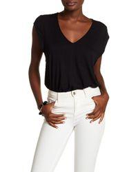 Free People - V-neck Short Sleeve Knit Bodysuit - Lyst