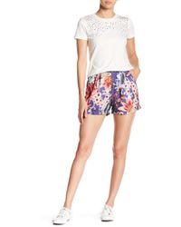Romeo and Juliet Couture - Floral Patterned Shorts - Lyst