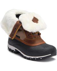 Kamik - Harper Faux Fur Folded Cuff Boot - Lyst