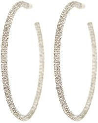 Nadri - Jumbo Micropave Hoop Earrings - Lyst