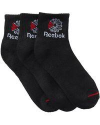 Reebok - Classic Mid Crew Socks - Pack Of 3 - Lyst