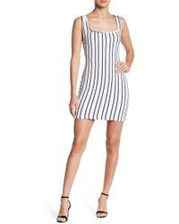 Lush - Tie Back Striped Bodycon Dress - Lyst