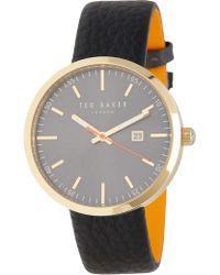 Ted Baker - Men's Dress Sport Leather Watch - Lyst