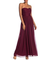 Marina - Strapless Roused Gown - Lyst