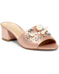 Guess - Dancerr Embellished Mule - Lyst
