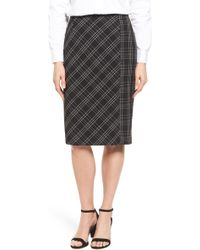 Halogen - Plaid Pencil Skirt (petite) - Lyst