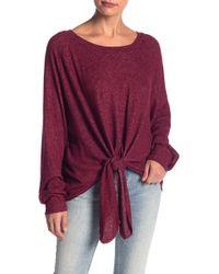 Blu Pepper - Tie Front Boatneck Sweater - Lyst