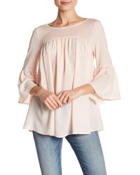 French Connection - 3/4 Flutter Sleeve Blouse - Lyst