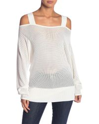 Kendall + Kylie - Cold Shoulder Pullover Shirt - Lyst