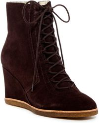 Bettye Muller - Wander Lace-up Suede Boot - Lyst
