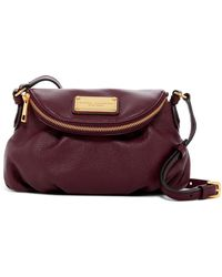 marc jacobs classic leather messenger bag