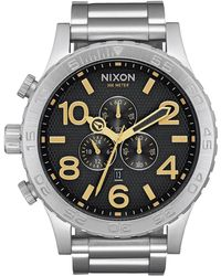 Nixon - '51-30 Chrono' Quartz Stainless Steel Casual Watch, Color:silver-toned (model: A0832730) - Lyst
