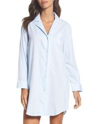 Lauren by Ralph Lauren - Notch Collar Sleep Shirt - Lyst