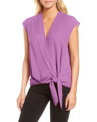 Trouvé - Trouv? Wrap Top - Lyst