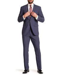 Perry Ellis - Solid Medium Blue Notch Lapel Suit - Lyst