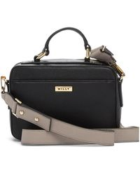 MILLY - Astor Whipstitch Leather Small Satchel - Lyst