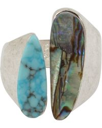 Robert Lee Morris - Turquoise & Abalone Open Ring - Size 8.5 - Lyst