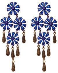 Loren Hope - Jasmine Floral Blue Stone Drop Earrings - Lyst