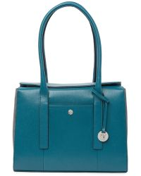 Lodis - Business Chic Paula Rfid-protected Coated Leather & Suede Brief Shoulder Bag - Lyst