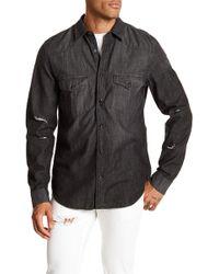 7 For All Mankind - Western Denim Regular Fit Shirt - Lyst