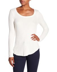 Chaser - Long Sleeve Waffle Knit Tee - Lyst