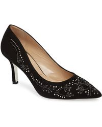 Ron White - Carla Crystal Embellished Pump - Lyst