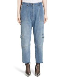 Robert Rodriguez - Crop Drop Crotch Cargo Jeans - Lyst