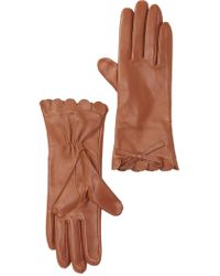 Kate Spade - Scalloped Leather Gloves - Lyst