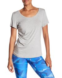 Karma - Karlie Ruched Scoop Neck Tee - Lyst