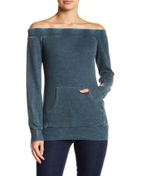 Go Couture - Thermal Off-the-shoulder Sweater - Lyst