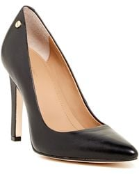 Calvin Klein - Brady Leather Pointed Toe Pump - Wide Width Available - Lyst