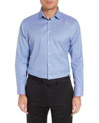 Calibrate - Trim Fit Non-iron Dress Shirt - Lyst