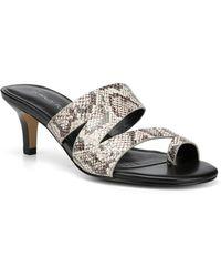 Donald J Pliner - Klarisa Snake Skin Embossed Asymmetrical Slide Sandal - Lyst