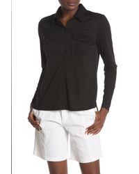 5a3670aafca3 Nordstrom Rack · Joe Fresh - Knit Button Down Shirt - Lyst