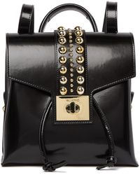 Valentino By Mario Valentino - Gauthier Studded Leather Backpack - Lyst