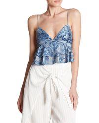 Dress Forum - Floral Layered Crop Top - Lyst