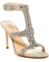 Imagine Vince Camuto - Price Beaded T-strap Sandal - Lyst