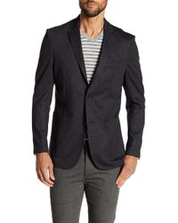Vince Camuto - Scratch Patterned Notch Collar Double Button Blazer - Lyst