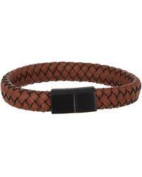 Link Up - Woven Leather Bracelet - Lyst