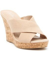 Charles David - Latrice Suede Wedge Sandal - Lyst