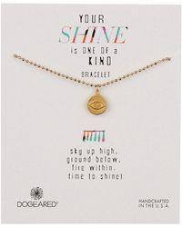 Dogeared - 14k Gold Vermeil Your Shine Eye Bracelet - Lyst