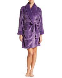 Catherine Malandrino   Plush Cable Fleece Robe   Lyst