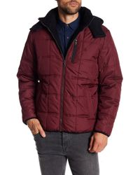 Izod - Detachable Hood Puffer Jacket - Lyst
