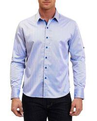 Robert Graham - Canton Herringbone Regular Fit Sport Shirt - Lyst