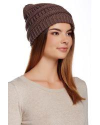 Modena | Horizontal Purl Knit Hat | Lyst
