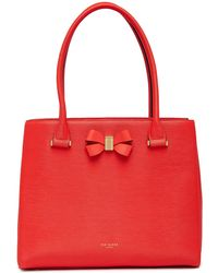 Ted Baker - Callaa Bow Detailed Leather Shopper - Lyst