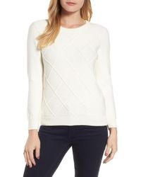 Draper James - Argyle Dot Sweater - Lyst