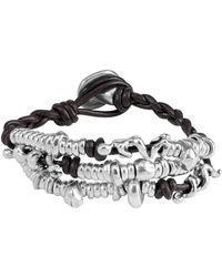 Uno De 50 Akeela Beaded Cluster Leather Bracelet
