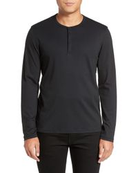 Calibrate - Refined Cotton Henley - Lyst